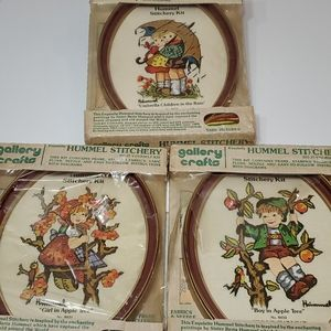 Hummel Stitchery kit boy and girl set of 3 vintage